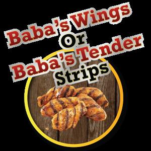 babas wings r tender strips